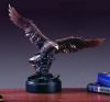 11108 Large Bronze Eagle Soaring over Rocks Bronze tone