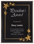 Black Star Acrylic Award Recognition Plaque Employee Awards