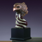 Eagle Head w/American Flag Patriotic Awards