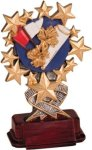 Cheerleading - Starburst Resin Trophy Star Awards